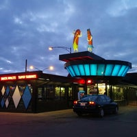 Photo taken at Superdawg Drive-In by Joe Z. on 2/15/2013