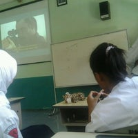 Photo taken at SMP Negeri 1 Malang by Regitta F. on 10/3/2012
