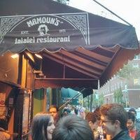 Photo taken at Mamoun's Falafel by steven t. on 5/18/2013