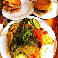 Photo taken at Pilgrims Vegetarian Cafe by Gordon M. on 2/23/2014
