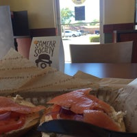 Photo taken at Einstein Bros Bagels by Hunter G. on 10/25/2015