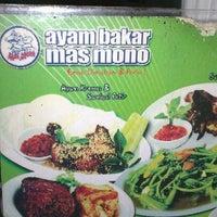 Photo taken at Ayam Bakar Mas Mono by Rosna P. on 10/21/2012
