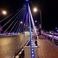 Photo taken at Han River Bridge by Hozu H. on 7/17/2014