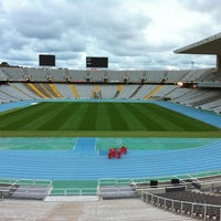 Photo taken at Estadi Olímpic Lluís Companys by Xavi O. on 9/27/2012