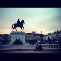 Photo taken at Place Bellecour by Jack T. on 11/24/2012