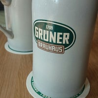 Photo taken at Grüner Brauhaus by Andrea H. on 9/7/2014