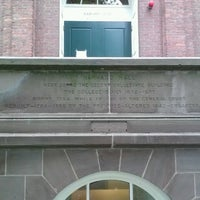 Photo taken at Harvard Hall by Tammy G. on 7/11/2013