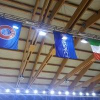 Photo taken at Palazzetto Dello Sport San Vito Al Tagliamento by Mauro C. on 10/23/2012