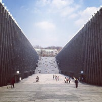 Photo taken at Ewha Womans University Back Gate by Lollope H. on 4/9/2015