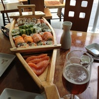 Photo taken at Sushihana by Daniel Alejandro on 2/10/2013