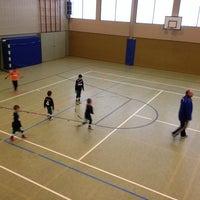 Photo taken at Sporthalle Rheinbach by Martin M. on 2/15/2014
