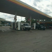Photo taken at Shell Jalan Mersing by Mohd F. on 11/22/2012