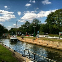 Photo taken at Sunbury lock by Andrew J. on 8/30/2013
