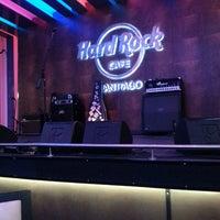 Photo taken at Hard Rock Cafe Santiago by Carlos M. on 5/11/2013