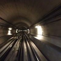 Photo taken at Emirates Metro Station محطة مترو طيران الإمارات by Hüseyin G. on 10/22/2012