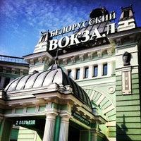 Photo taken at Belorussky Rail Terminal by Nika S. on 4/14/2013