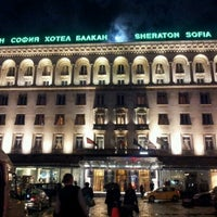 Photo taken at Sofia Hotel Balkan by Ema P. on 10/29/2012