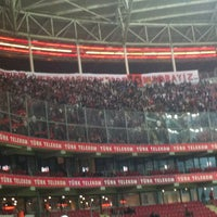 Photo taken at Türk Telekom Arena by Ramazan K. on 11/27/2012