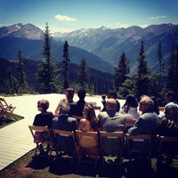 Photo taken at The Sundeck at Aspen Mountain by Andrew K. on 6/23/2012