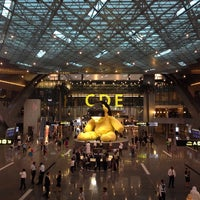 Photo taken at Hamad International Airport by Mohammed A. on 6/6/2014