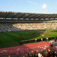 Photo taken at King Baudouin Stadium by Tom D. on 6/7/2013