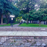 Photo taken at Bishop Lucey Park (The Peace Park) by Rodrigo C. on 7/12/2016