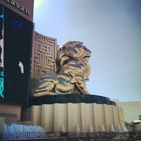 Photo taken at MGM Grand Lion Statue by Eric M. on 8/16/2013