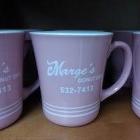 Photo taken at Marge's Donut Den by Tara B. on 2/12/2013