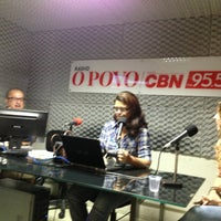 Photo taken at Rádio O POVO CBN Fortaleza FM 95.5 by Renata B. on 8/14/2013
