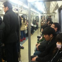 Photo taken at 地铁上地站 Subway Shangdi by Pascal L. on 2/25/2014