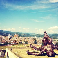 Photo taken at Forte di Belvedere by Caterina on 9/7/2013