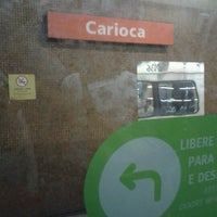 Photo taken at MetrôRio - Estação Carioca by Marcelo M. on 9/22/2012