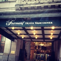 Photo taken at The Fairmont Hotel Vancouver by Luxury M. on 1/20/2013
