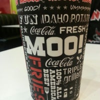 Photo taken at MOOYAH Burgers, Fries & Shakes by Brendan M. on 11/10/2012