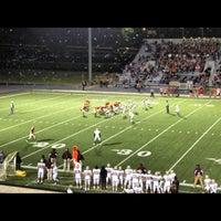 Photo taken at Buddy Moorehead Memorial Stadium by Austin on 10/27/2012