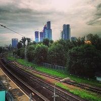 Photo taken at Ж/Д станция Фили by Никола Л. on 7/20/2013