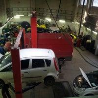 Photo taken at Auto Stils, autoserviss by Sabīne U. on 12/17/2013