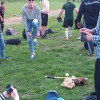 Photo taken at Бейсбольне поле УжНУ / Baseball field UzhNU by Igor D. on 4/8/2014