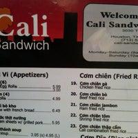 Photo taken at Cali Sandwiches by Derrick B. on 9/18/2012