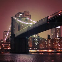 Photo taken at Brooklyn Bridge Promenade by Jen D. on 3/3/2013
