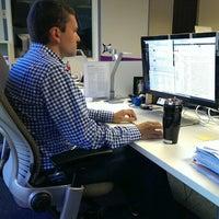 Photo taken at Chris Herbert's desk by Chris M. on 8/5/2013