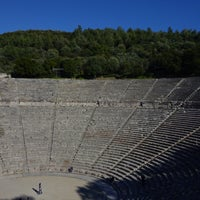 Photo taken at Epidaurus Ancient Theatre by Alexander P. on 2/23/2017