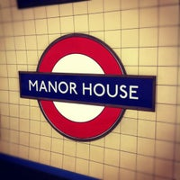 Photo taken at Manor House London Underground Station by Laurent S. on 12/2/2012