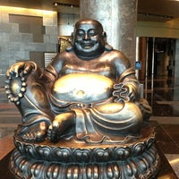 Photo taken at Big Buddah Statue at ARIA by Debbie on 1/11/2013