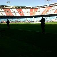 Photo taken at Estadio Vicente Calderón by Aby G. on 4/14/2013