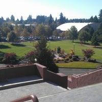Photo taken at Grand Staircase: Saint Martin's University by Justine C. on 10/8/2012