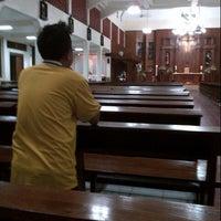 Photo taken at Gereja St Robertus Bellarminus Cililitan by Albertus A. on 5/16/2013