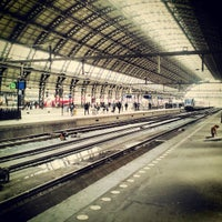 Photo taken at Amsterdam Central Railway Station by Barča V. on 4/21/2013