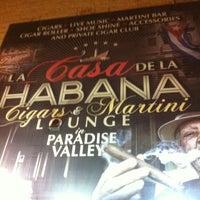 Photo taken at La Casa De La Habana Cigar Bar by Lewis E. on 4/29/2013