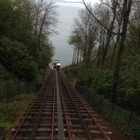 Photo taken at Babbacombe Cliff Railway by Anna M. on 4/30/2014